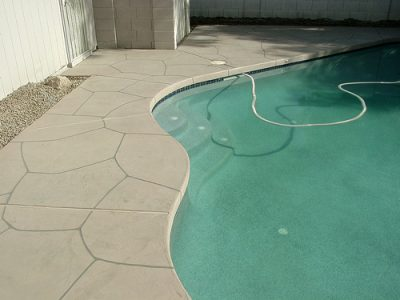 Acrylic Flagstone Pool Deck Overlays From Advanced Deck